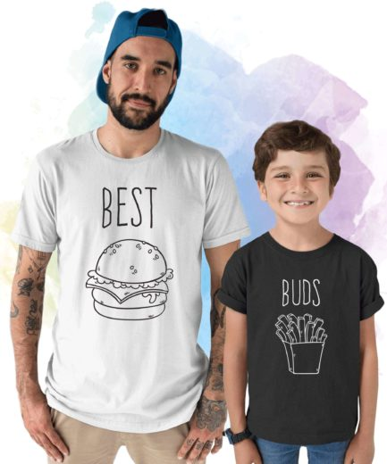 Best Buds Shirt, Burger and Fries, Father's Day Gift, Father & Kid Shirts