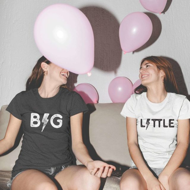 Big Little Reveal Shirts, Sorority Shirts, Textured Thunder, Best Friends Shirts