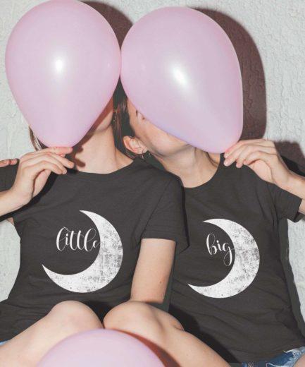 Big Little Sorority Shirts, Textured Moon, Best Friends Shirts