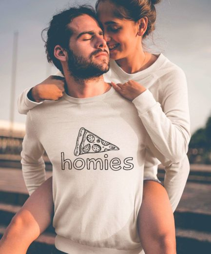 Homies Pizza Sweatshirts, Matching Couple Sweatshirts