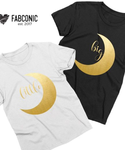 Big Little Matching Shirts, Sorority Shirts, Gold Moon, Best Friends Shirts