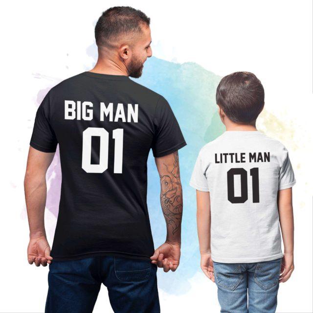 Big Man Little Man 01, Matching Father & Son Shirts, Custom Number Shirt