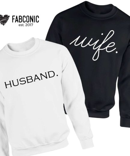 Husband Wife Matching Sweatshirts, Couple Sweatshirts, Gift for Couples