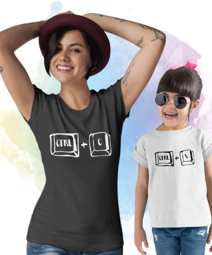 Ctrl C Ctrl V Mother Baby Shirts, Mother & Kid Shirts, Matching Mommy Baby Shirts