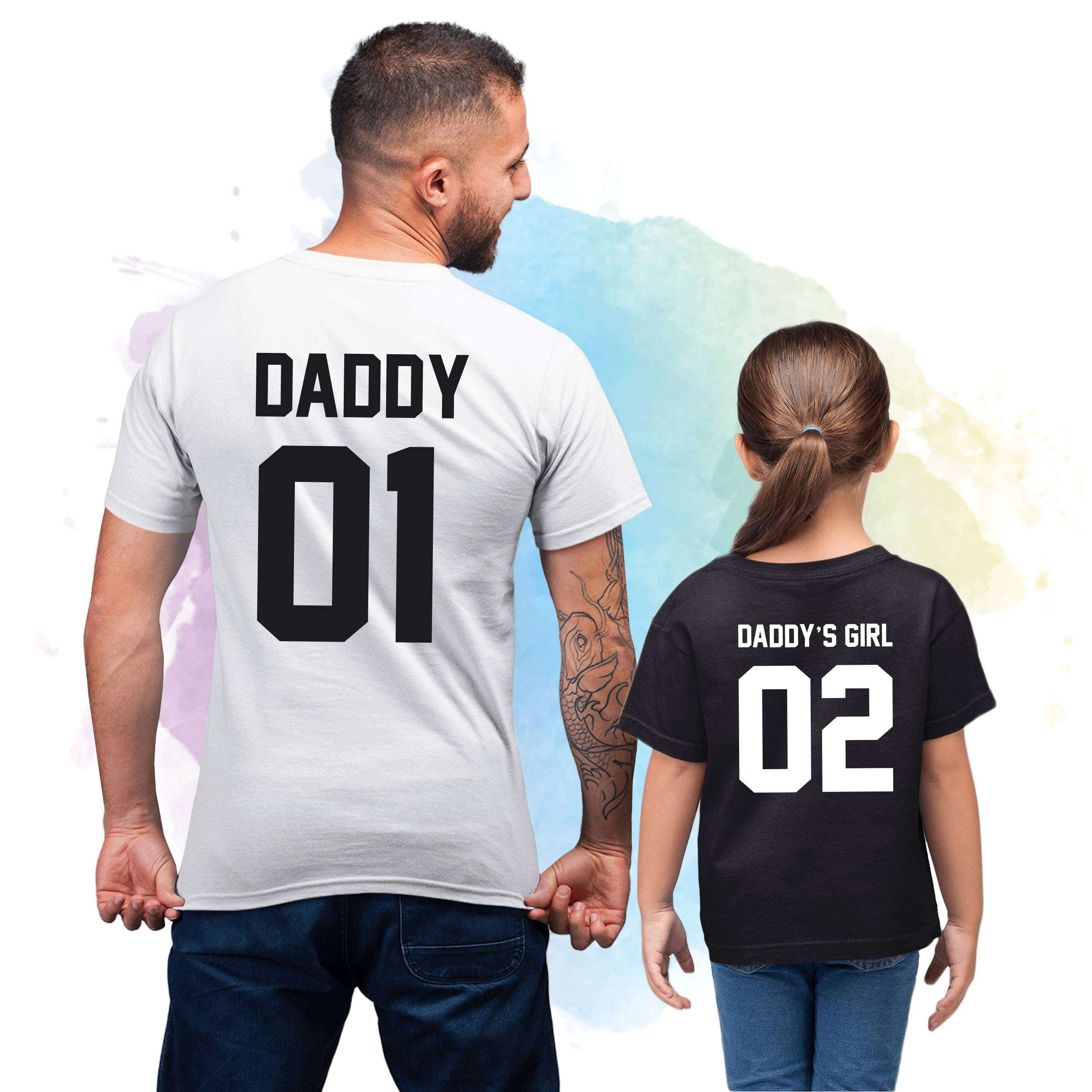 a10b5832 Daddy 01 Daddy's Girl 02, Father & Daughter Shirts - Fabconic