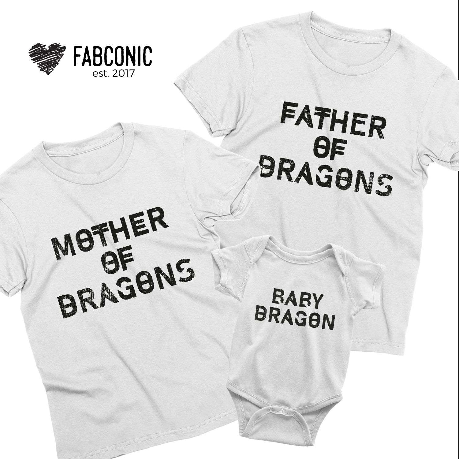 Dragons Family Set Mother Of Dragons Game of Thrones Father Of Dragons Baby Dragon Parent Child Mothers Day Fathers Day Mattching Family Set
