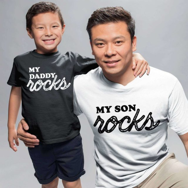 Father Son Shirts, My Daddy Rocks, My Son Rocks, Matching Father and Son Shirts