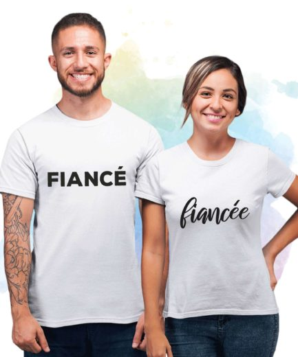 Fiance Fiancee Couple Shirts, Engagement Couples Shirts