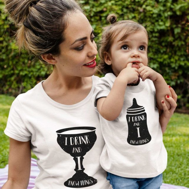 I drink and I know things Shirt, GOT Matching Mother & Kid Shirts