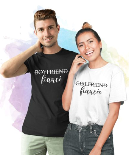 Girlfriend Fiancee Boyfriend Fiance, Matching Couple Shirts