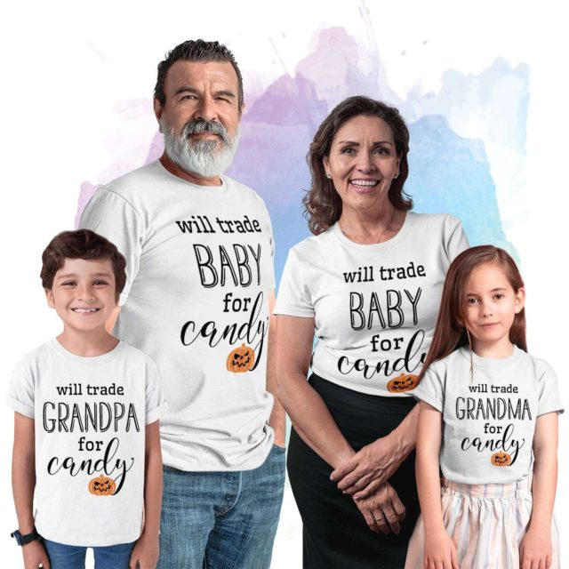 Funny Grandparents Shirts, Will Trade Grandparents for Candy, Family Shirts