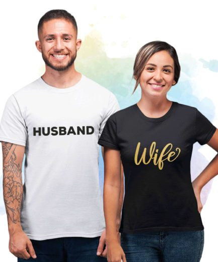 Husband and Wife Couple Shirts, Just Married Shirts, Anniversary Gift