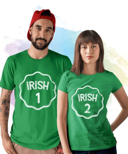 Irish Couple Shirts, Irish 1 Irish 2, Matching St. Patrick's Day Shirt