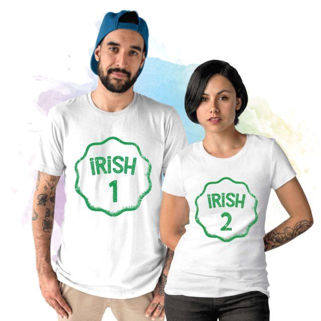 Irish Couple Shirts, Irish 1 Irish 2, Matching St. Patrick's Day Shirt