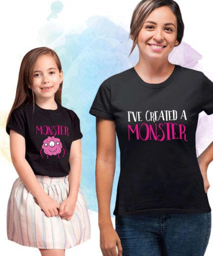 Mom Baby Halloween Shirts, Monster, I've Created a Monster, Mother & Kid Shirts