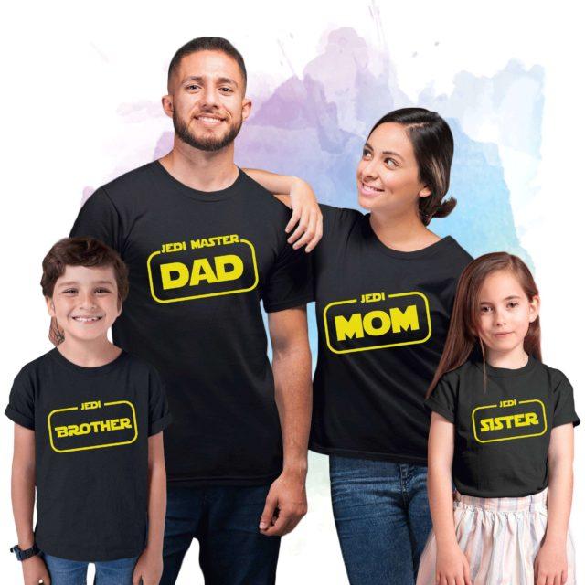 Jedi Family, Matching Family Shirts, Funny Jedi Shirts, Mom Dad Baby