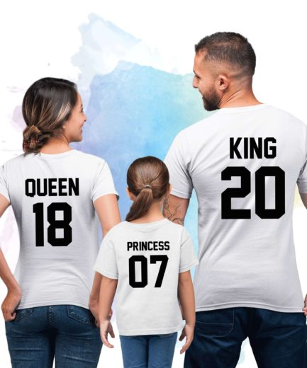King Queen Prince Princess Shirts, Family Shirts, King and Queen Shirts