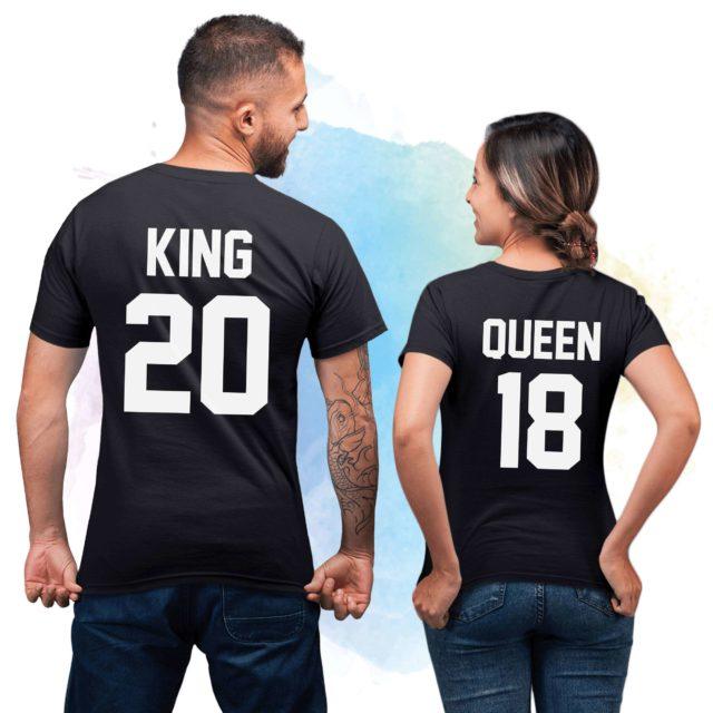 King Queen 01 Couple Shirts, Matching King Queen Shirts