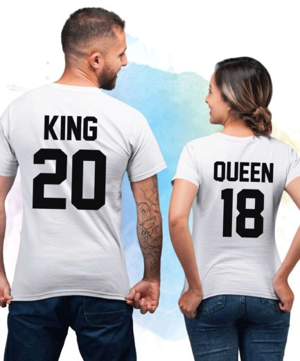 King Queen 01 Couple Shirts, Matching King Queen Shirts