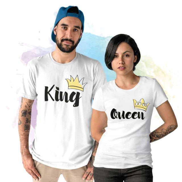 King Queen Crowns, Couple Shirts, Couples Matching Shirts