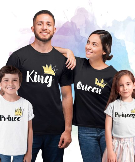 King Queen Prince Princess Family Shirts, Crowns, Family Shirts