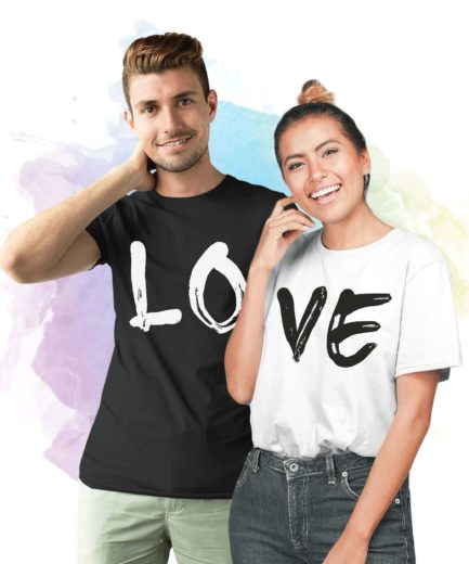LOVE Couple Shirts, Matching LOVE Couple T-Shirts, Love Shirts