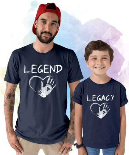 Legend Legacy Shirts, Father and Kid Matching Outfit, Father's Day Shirts