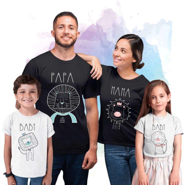 Papa Lion Mama Lion Baby Lion Shirts, Family Shirts, Lion Family Shirts