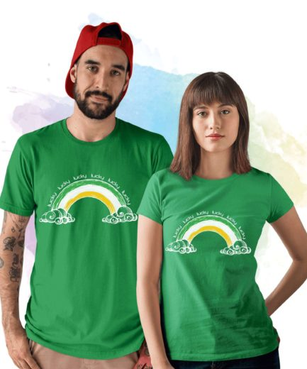 Lucky Rainbow Shirt, St. Patrick's Day Shirt, Gift Idea for St Patricks Day