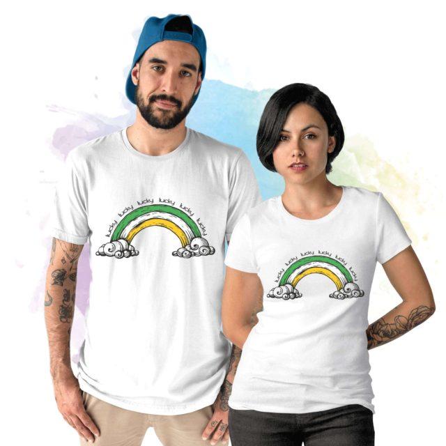 Lucky Rainbow Shirt, St. Patrick's Day Shirt, Gift Idea for St Patricks Day