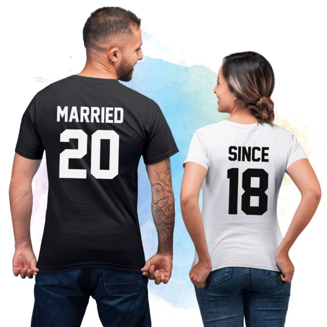 Married Since Shirts, Couple Shirts, Anniversary Gift