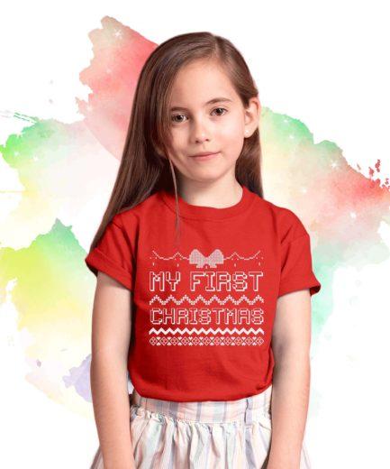 My First Christmas Shirt, Baby Christmas Outfit, Christmas Family Shirt