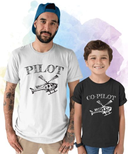 Pilot Co-Pilot Shirts, Father & Kid Shirts, Father's Day Gift