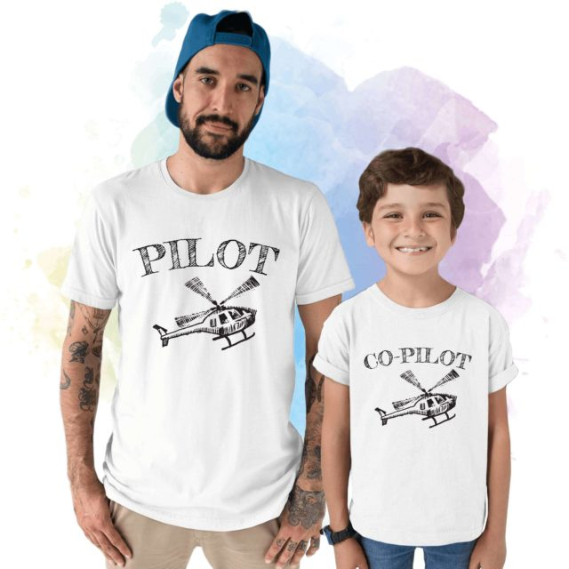 Pilot Co-Pilot Shirts, Father & Kid Shirts, Father's Day Gift