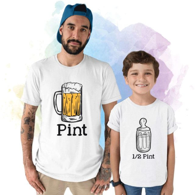 Pint Half Pint Shirts, Father & Kid Matching Outfit, Father's Day Shirts