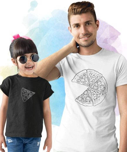 Pizza Matching Shirts, Slice of Pizza, Father & Kid Shirts