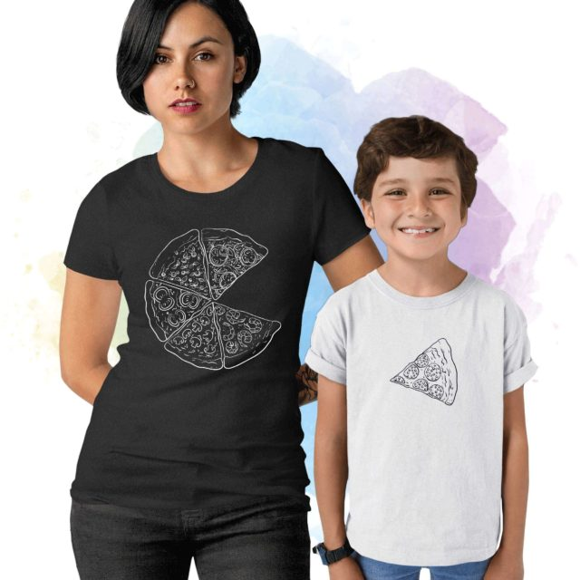 Pizza Slice of Pizza Shirts, Mother & Kid Shirts, Matching Mommy and Me Shirts