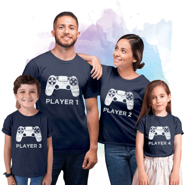 Player 1 Player 2 Family Shirts, Player 3, Family Matching Shirts