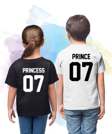 Prince Princess Shirts, Custom Number, Siblings Matching Shirts, Gift for Sibling