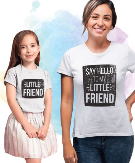 Funny Mother's Day Shirts, Say Hello to my Little Friend, Mother & Kid Shirts