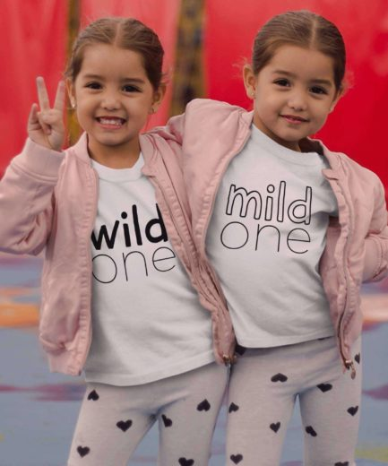 Mild One Wild One Shirts, Best Friend Matching Shirts, Siblings Shirts