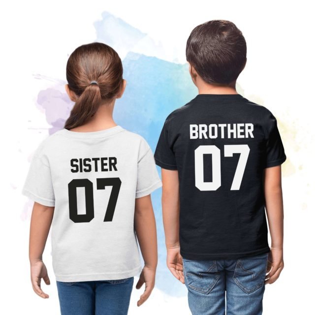 Brother Sister Shirts, Siblings Matching Shirts, Gift for Sister, Gift for Brother