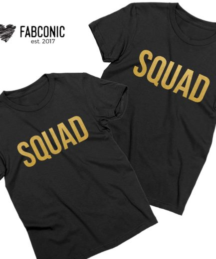 Squad Best Friends Shirts, Matching BFF T-shirts, Squad shirts for women