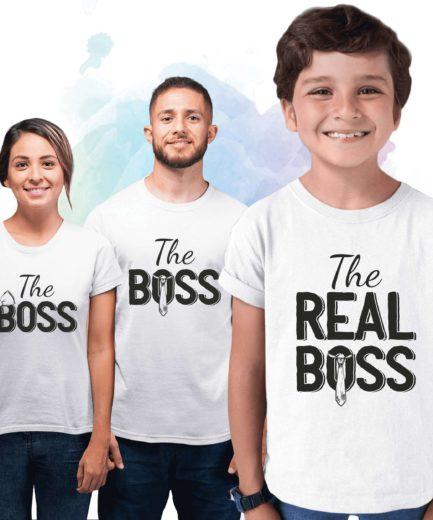 Boss Real Boss Family Shirts, Family Matching Shirts, Funny Family Shirts