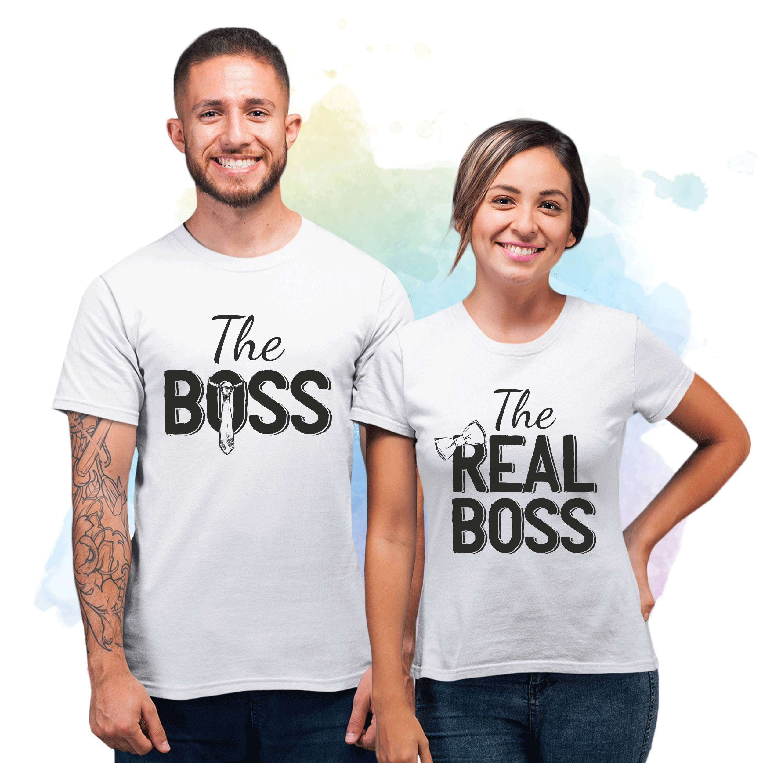 04cd35199 The Boss The Real Boss Couple, Matching Shirts for Couples