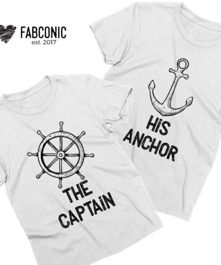 The Captain His Anchor, Couple Shirts, Matching Shirts