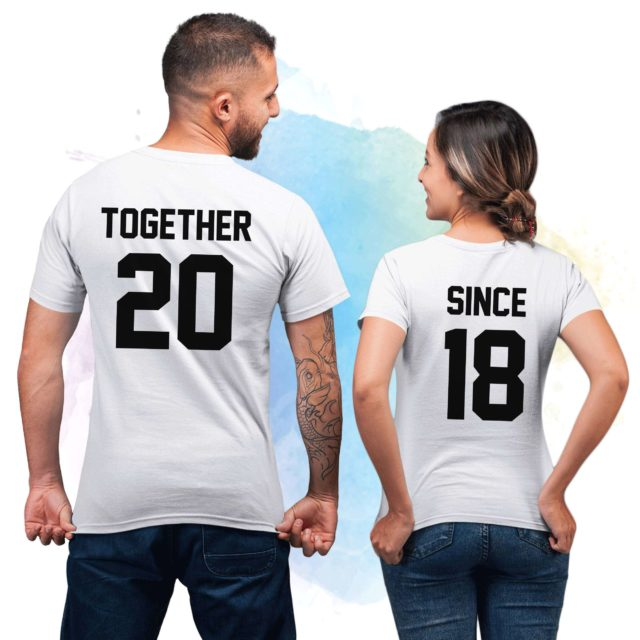 Just Married Gift for Couples, Together Since, Couple Shirts