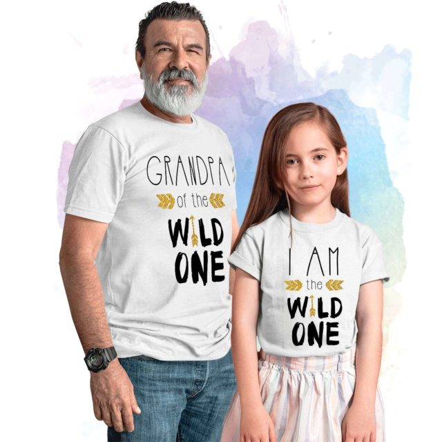 Birthday Grandpa Shirt, Grandpa of the Wild One, I am the Wild One, Family Shirts