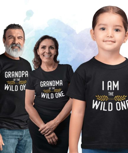 Grandma Grandpa Shirts, Wild One Family, Family Shirts