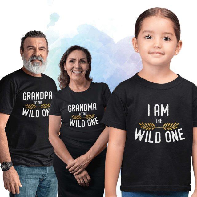 Grandma Grandpa Shirts, Wild One Family, Family Shirts